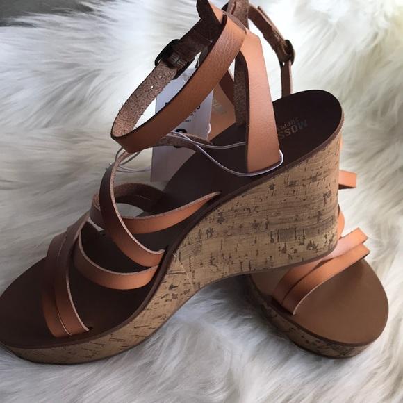 d214f247e1c Mossimo camel color platform wedge sandals. NWT. Mossimo Supply Co.
